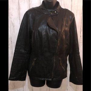 Michael Kors Genuine Leather Asymmetrical Moto L